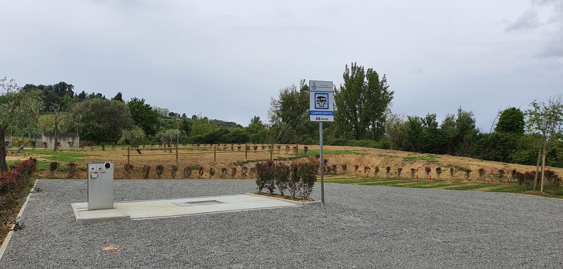 Area sosta camper Inarea a Casciana Terme Lari
